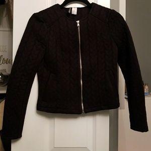Black zipper up blazer